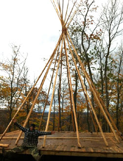 construction d'un tipi